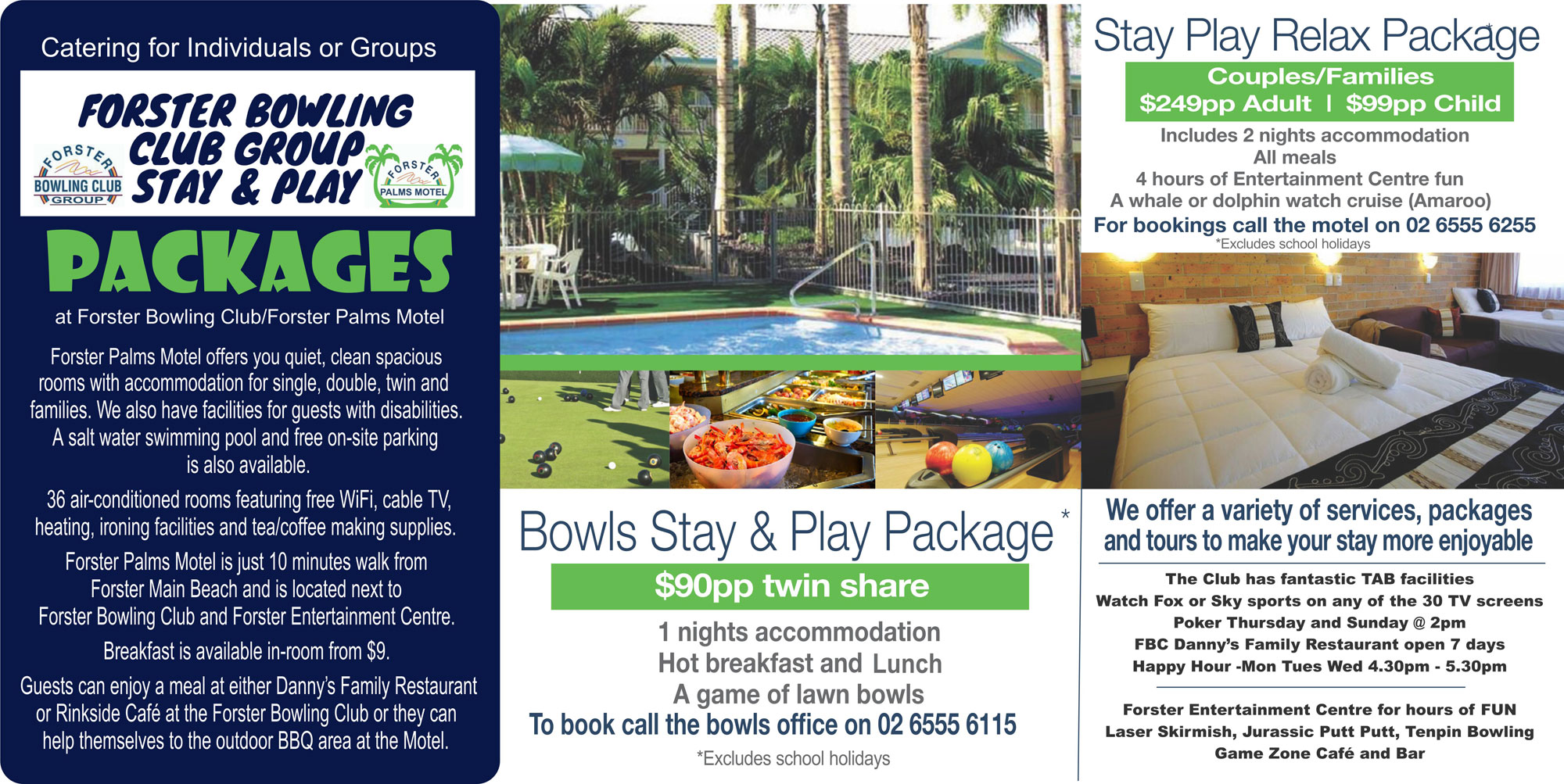 Forster Bowling Club Group - Stay & Play Packages 2018
